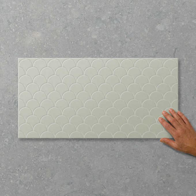 Picture of Adorn Fan Pistachio (Satin) 600x300 (Rectified)