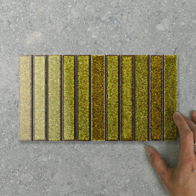 Picture of Silvia Fingers (150x22) Moss (Gloss) 275x150 (Rectified)