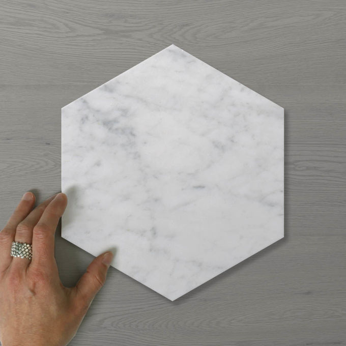 Picture of Marmo Hexagon Carrara (Honed) 231x200 (Rectified)