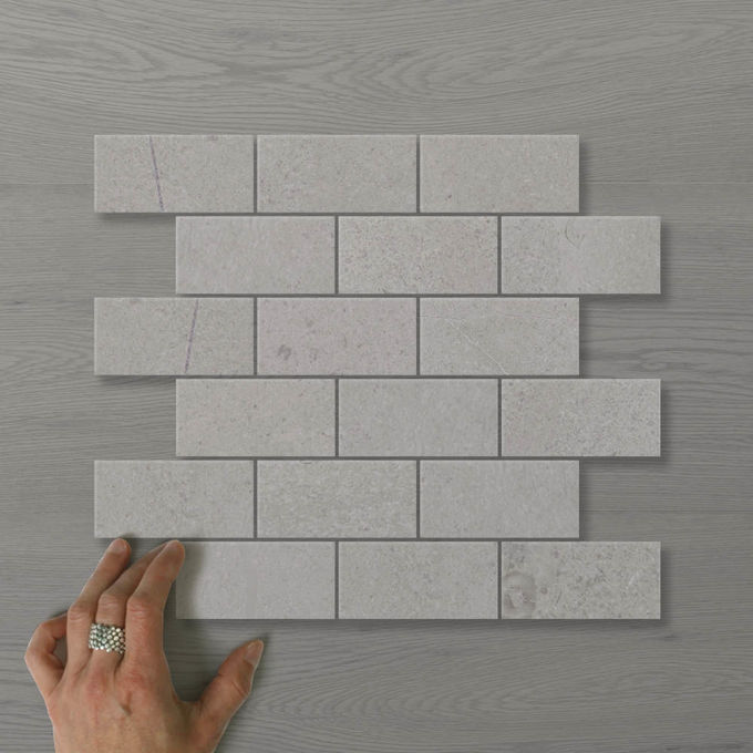 Picture of Marmo Brick (100x50) Jackrabbit (Honed) 300x300 Sheet (Rectified)