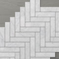 Picture of Marmo Herringbone (150x35) Carrara (Honed) 260x300 Sheet (Rectified)