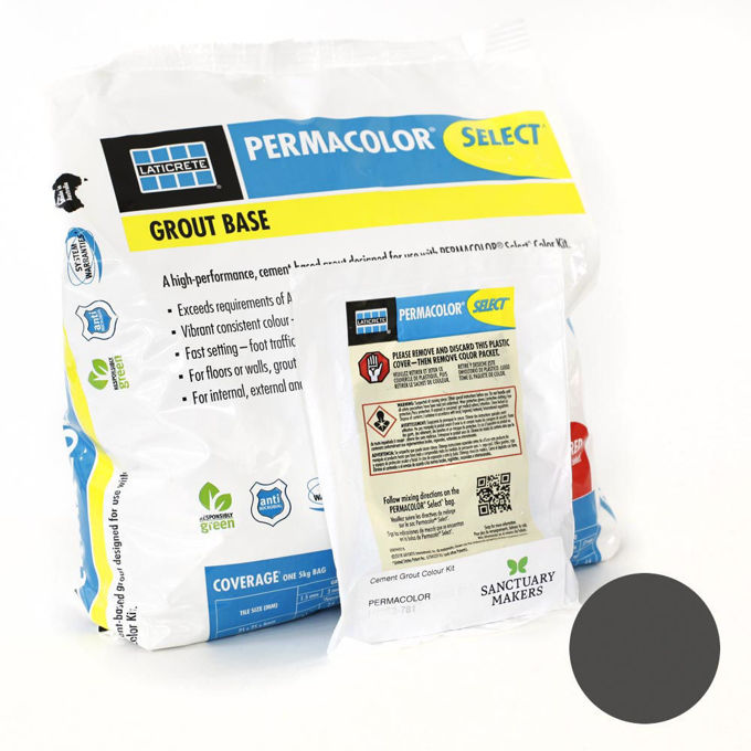 Picture of PERMACOLOR SELECT 5KG Charcoal Colour Grout  Kit