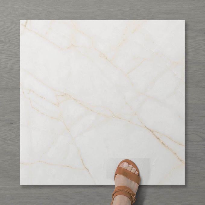 Picture of Aphrodite Statuario Gilded (Matt) 600x600 (Rounded)